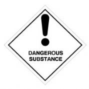 Hazard safety sign - Dangerous Substance 009